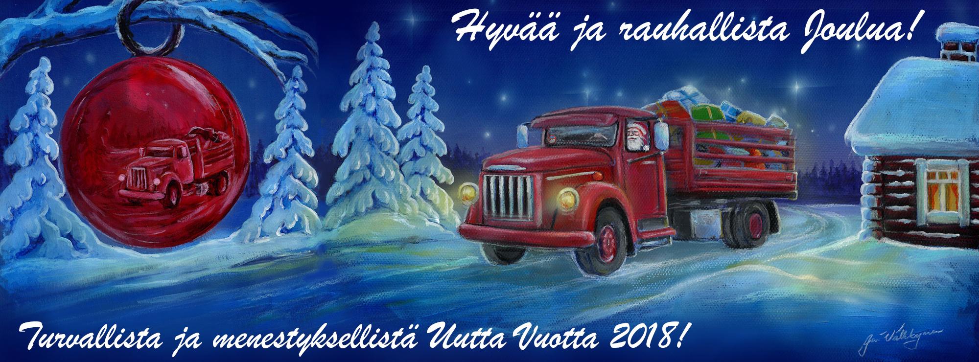 joulu liikenne 2018 Hyvää Joulua ja turvallista Uutta Vuotta 2018!   Rahtarit ry joulu liikenne 2018